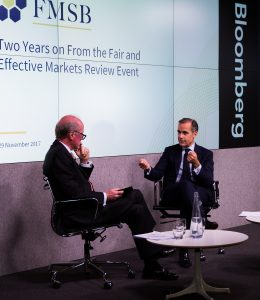 FMSB Chair Mark Yallop and Bank of England Governor Mark Carney at the FMSB event on 29 November 2017